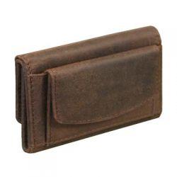 Porte cartes - Porte monnaie en cuir - Oregon - 9.5 x 7 cm