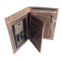 Porte feuille Oregon en cuir 12.5 x 10 cm