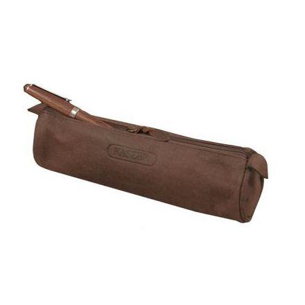 Trousse en cuir cylindrique - Oregon - 7 x 22 cm