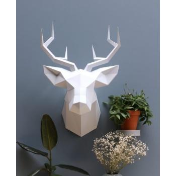 Trophée Orgami - Cerf blanc