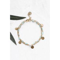 Bracelet double Bahatidoré vert d'eau Shlomit Ofir