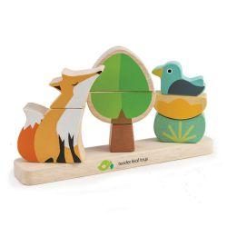 Forêt du renard magnétique avec plateau en bois Tender Leaf Toys