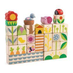 Cubes en bois - Le jardin Tender Leaf Toys