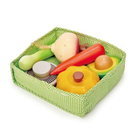 Caisse de légumes en bois Tender Leaf Toys