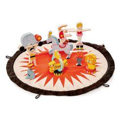 Set du cirque en bois avec sa piste Tender Leaf Toys