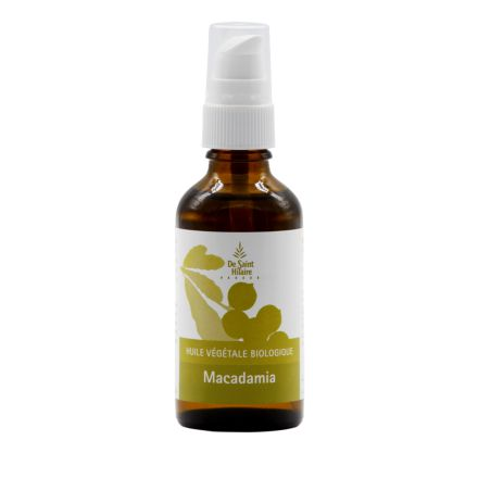 Huile végétale biologique Macadamia 50ml - De Saint Hilaire