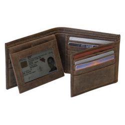 Portefeuille en cuir - Oregon - 9 X 11.5 cm