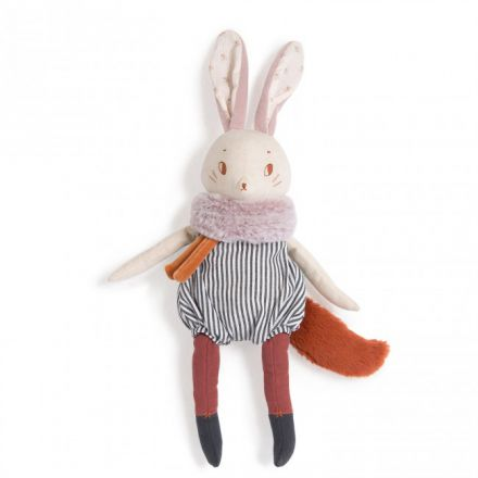 Peluche Grand Lapin Plume - Moulin Roty