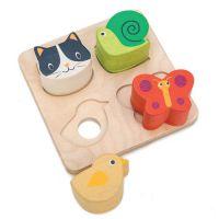 Animaux puzzle en bois Tender Leaf Toys