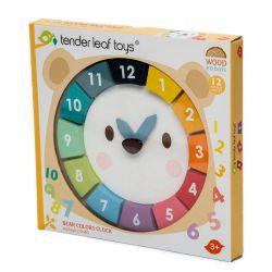 Horloge ours en bois - Apprentissage Tender Leaf Toys