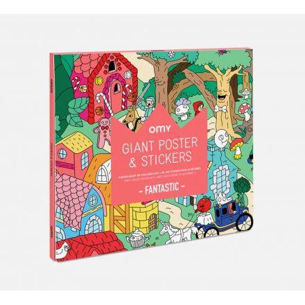Poster géant et stickers Fantastic Omy Design City
