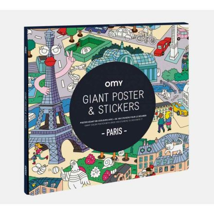 Poster géant et stickers Paris Omy Design City