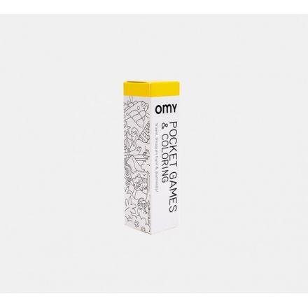 1 Mètre de jeux et coloriages + 1 crayon 8 Couleurs Atlas Omy Design City