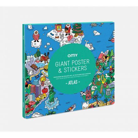Poster géant et stickers Atlas Omy Design City
