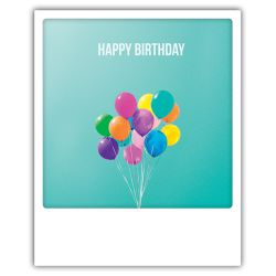Carte pickmotion - Happy birthday ballons