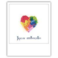 Carte pickmotion - Joyeux anniversaire légos