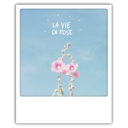 Carte pickmotion - La vie en rose