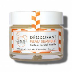 Déodorant naturel - Peau sensible - Vanille - Clémence et Vivien