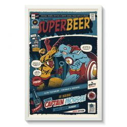 Affiche Gallodrome - Superbeer versus captain mousse