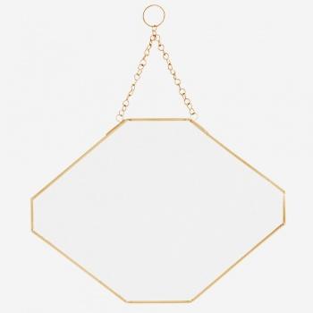 Miroir géométrique - Rebords dorés - Madam Stolz