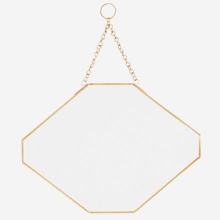 Miroir géométrique - Rebords dorés - Madam Stoltzt