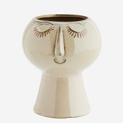 Pot à fleurs - Visage Madam Stolz