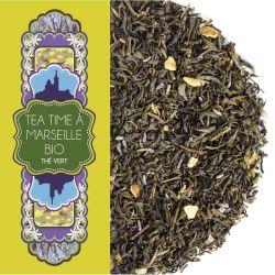 Sachet 100G - Thé vert bien-être - Epices vanille - Bio