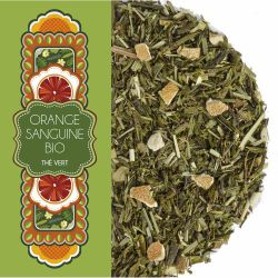 Sachet 100 G - Thé vert - Orange sanguine - Bio