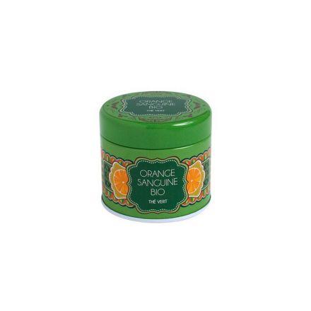 Boîte à thé en métal - Orange sanguine Thé vert - Bio