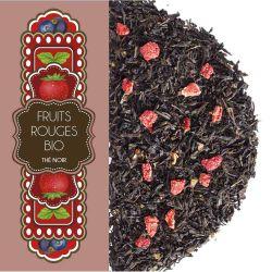 Sachet 100G - Thé noir - Fruits rouges - Cassis fraise - Bio