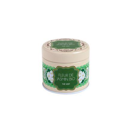 Boîte à thé en métal - Thé vert - Fleur de jasmin - Bio