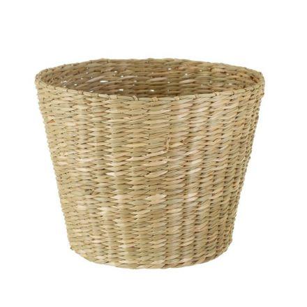 Panier cache pot naturel en seagrass - Sass and Bell