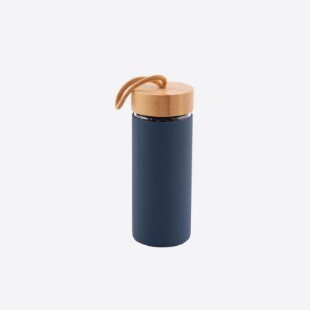Bouteille en verre Point virgule - Bleu foncé - 450 ml