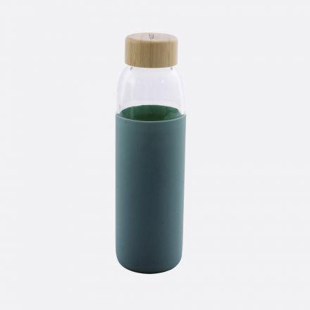 Bouteille en verre Point virgule - Vert pétrole - 580 ml