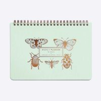 Weekly planner - Slow life - Insectes - Vert d'eau