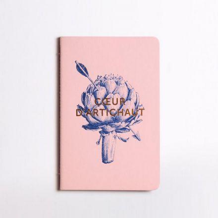 Carnet - Coeur d'artichaut - Rose