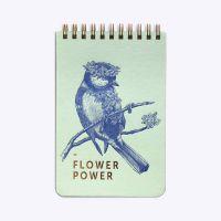 Petit bloc - Flower power - Vert d'eau