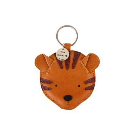 Porte clé cuir Tigre - Donsje