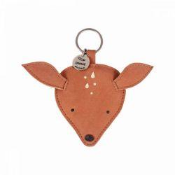 Porte clés cuir Biche - Donsje