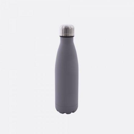 Bouteille isotherme Point virgule - Double paroi en inox - Gris ciment - 500 ml
