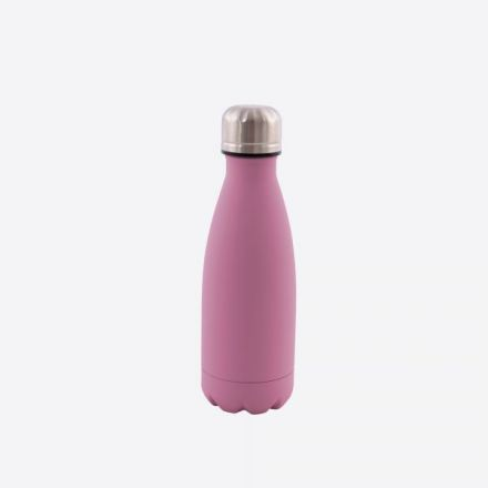 Bouteille isotherme Point virgule - Double paroi en inox - Vieux rose - 350 ml