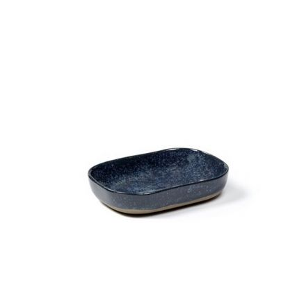 Ramequin rectangulaire Merci n°7 bleu/gris