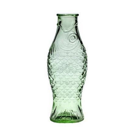 Bouteille 1L en forme de poisson transparent vert