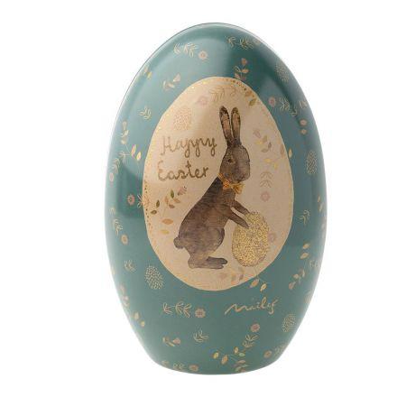 Oeuf de Pâques en métal - Maileg bleu