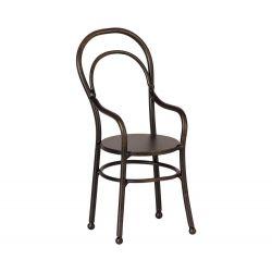 Petite chaise tabouret vintage marron - Maileg