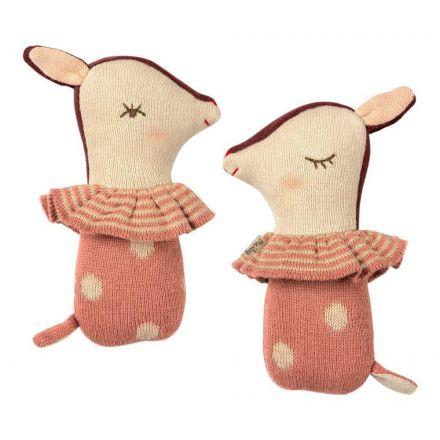 Petite biche rose dans sa chaussette Maileg