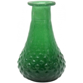 Petit vase 7 cm verre recyclé - Vert ..