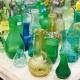 Petit vase 7 cm verre recyclé - Vert