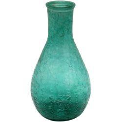 Petit vase transparent verre recyclé - Bleu