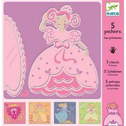 5 Pochoirs les princesses